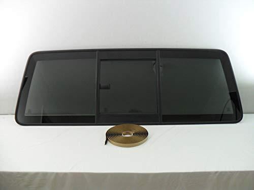 NAGD OE W/Logo Sliding Back Window Glass Back Slider Compatible with Ford Ranger 2 Door Super Cab 1986-1997 Models/Ford Ranger 2 Door Models 1998-2011/Mazda B2300 B2500 B3000 B400 1998-2011 Models
