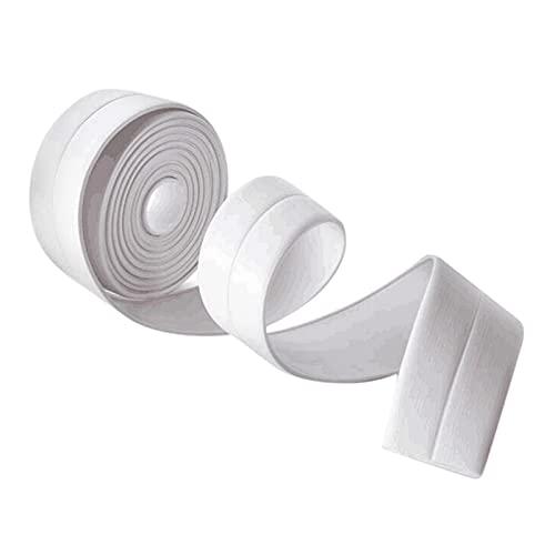 enioysun Wasserdicht Dichtband Selbstklebend 2 Dichtungsbänder wasserdichte und Mehltau-Küchen-WC Badezimmer-Duschwaschbecken Badewanne-Erdungs-Band (Color : White)