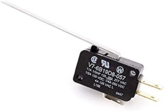 V7-6B19D8-057, Micro Switch Miniature Basic Switches: V7 Series, Single Pole Double Throw (SPDT), 11 A 125, 250, or 277 Vac, 70 (10 Items)