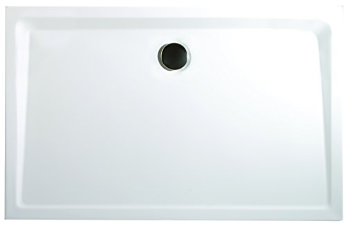 Schulte Duschwanne 75x90 cm, Rechteck extra-flach 3,5 cm, Sanitär-Acryl alpin-weiß, inkl Ablauf und Füßen