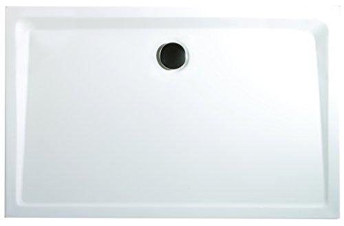 Schulte Duschwanne 90x120 cm, Rechteck extra-flach 3,5 cm, Sanitär-Acryl alpin-weiß, inkl Ablauf und Füßen