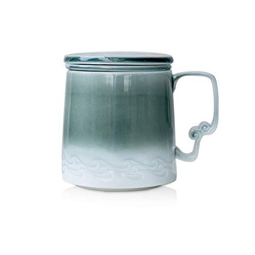 Hong Yi Fei-Shop Espresso Cup Set Filtro Taza de té de la Taza de cerámica con la Tapa del Filtro de té Oficina Taza de té Simple separación de la Copa Taza de té Tazas de Espresso