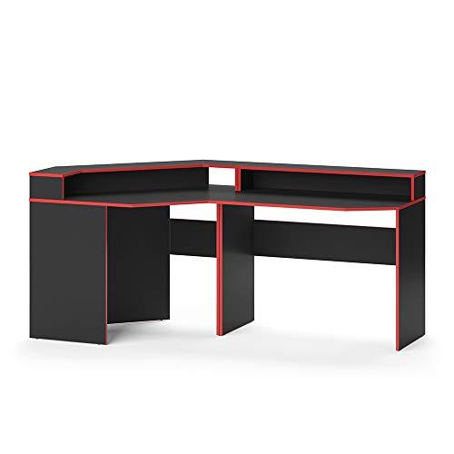 Vicco Gaming Desk Schreibtisch Kron Gamer PC Tisch Computertisch Bürotisch (Set 3)