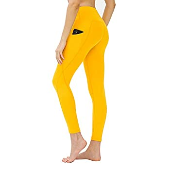 LOS OJOS Yoga Pants for Women – High Waist Tummy Control Workout Leggings with Pockets