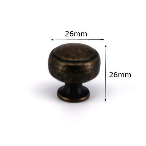 Piore een stuk retro bronzen meubelen garderobe keuken deurknoppen kast handgrepen Jelwery box ladeknoppen met schroeven, 015