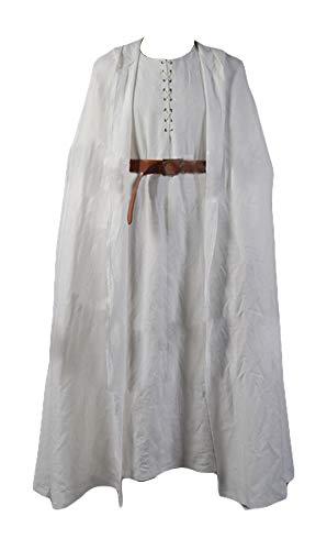 RedJade Gandalf Il Signore degli Anelli guainalina Cosplay Costume Bianco Accappatoio guainalina Set Completo Uomo Signori XL