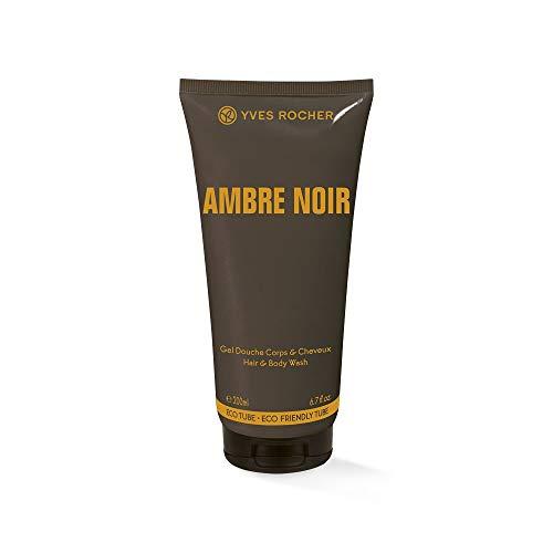 Yves Rocher AMBRE NOIR Dusch-Shampoo für Herren, sinnlich-eleganter, 1 x Tube 200 ml