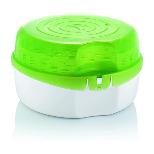 Intrucciones en lengua extranjera - Mam Esterilizador para microondas - Diámetro: 28 cm - Altura: 16,5 cm - Color verde