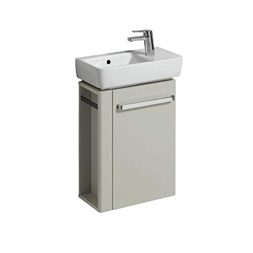 Keramag Renova Nr. 1 Comprimo NEU Handwaschbecken-Unterschrank 45 cm Hellgrau hochglanz, Hellgrau matt; Handtuchhalter links