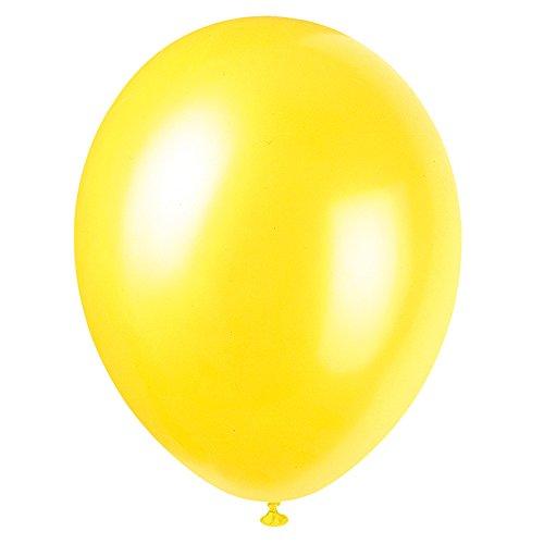 Unique Party 56873 - Palloncini in Lattice Giallo Cajun Perlato da 30cm, Confezione da 50