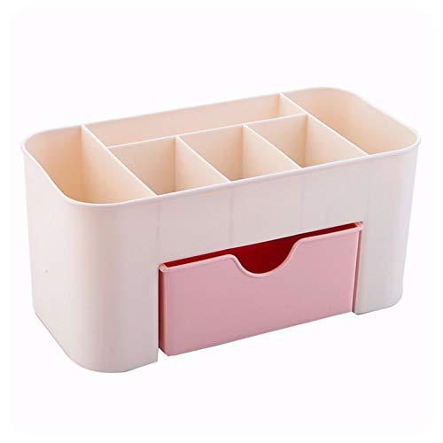 #N/V Caja de almacenamiento de cosméticos de plástico multifunción de escritorio cajas de almacenamiento cajón de maquillaje