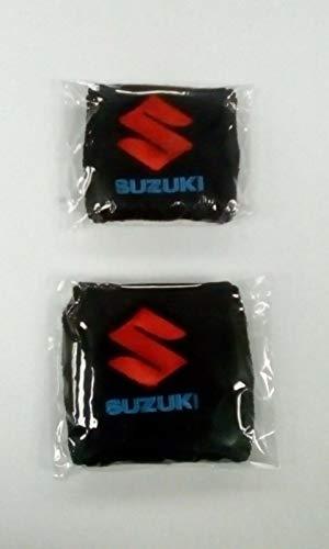 Par negro Suzuki Moto Delantero y Trasero Depósito Líquido de Frenos Cubiertas Funda Calcetines