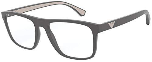 Emporio Armani Herren 0EA3159 Sonnenbrille, 5800 Matte Grey, 53