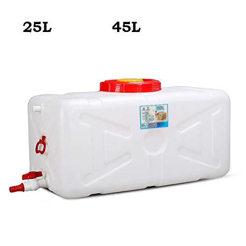 Guoda Wasserkanister Kunststoff In Lebensmittelqualität Mit Auslasswasserventil   Druckfest   Dropproof   25L, 45L   Weiß (Size : 25L)