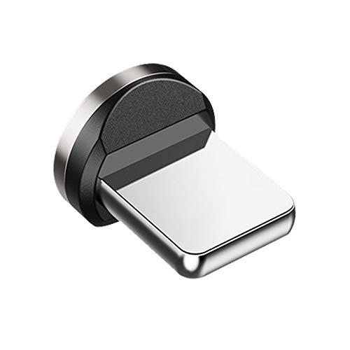 Gfhrisyty Enchufe MagnéTico Redondo del Cargador del ImáN de -USB del TeléFono del Enchufe del Cable para el Adaptador de Carga RáPido del Enchufe del iOS