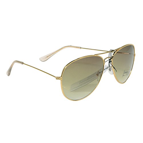 Unbekannt Miobo Pilot glasögon solglasögon flygande glasögon pornoglasögon med fjädergångjärn speglade i olika färger, Gyllene ram/ormgröna glas, En Storlek