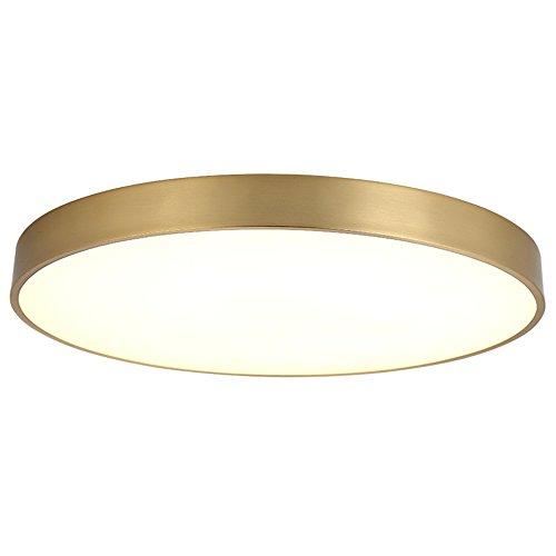 BuyWorld 5151BuyWorld lamp, eenvoudig, rond, modern, volledige verlichting, goudkleurig, koper, deksel, hoogwaardig, voor kinderkamer