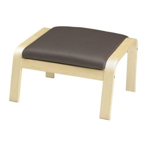 Ikea Ottomane Birkenfurnier robust glänzend dunkelbraun 82018.8295.146