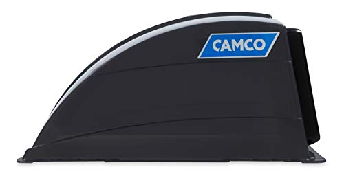 Camco Smoke Standard Roof Vent Cover, Opens for Easy Cleaning, Aerodynamic Design, Easily Mounts to RV with Included Hardware (40453)