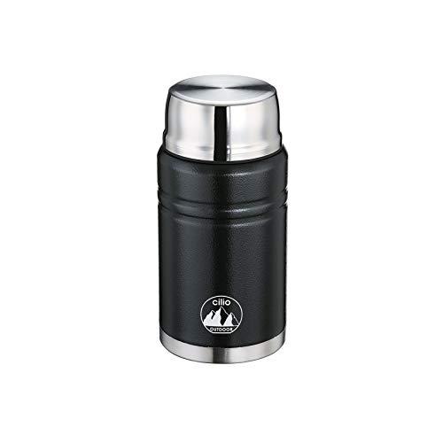 Cilio Container-KP0000545616 Food Container Monte 750 ml schwarz, Edelstahl, 750