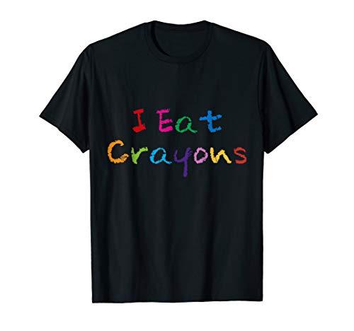 I Eat Crayons Funny Drawing Coloring Kids T-Shirt