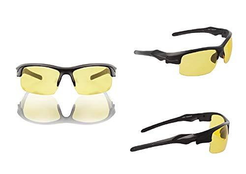 Taktische Airsoft Brille - getönte Schutzbrille für Softair Airsoft Radsport - Gelbe Ballistikgläser mit Antibeschlag Kratzschutz UV-Schutz 400 - Indoor Outdoor Aktivitäten (Gelb Schwarz, 1 Stück)