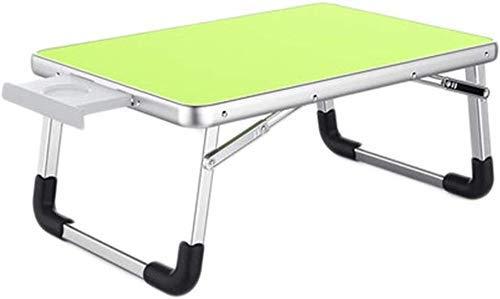 Office Life Desk Laptop Tisch Klapptisch Kleiner Tisch Studententisch Schlafsaal Spieltisch (Farbe: Grün, Maße: 60 40 26 cm), (Farbe: Grün, Größe: 604026 cm)
