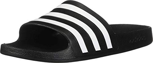 adidas Women's Adilette Aqua, White/Black, 7 M US