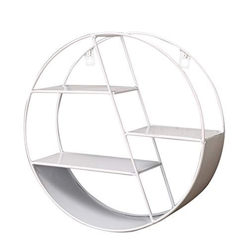 Modern Floating Shelf for tv Components, Home Decoration Shelf, Storage Shelves Display Racks Home Decor Wall Shelves for Living Room, Office, Bedroom, Bathroom, Kitchen (Color : White)