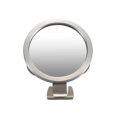 Stainless Steel Anti Fog Shower Mirror Bathroom Shaving Mirror Wall Vanity Makeup Mirror Bathroom Supplies With Suction Cup Hook