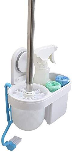 AINIYF Montado en la Pared del baño Estantes Cuarto de baño WC Cepillo Limpio Ventosa Ducha Organizador - Blanco (Color: Blanco, Tamaño: 21x43cm), Tamaño: 21x43cm, Color: Blanco