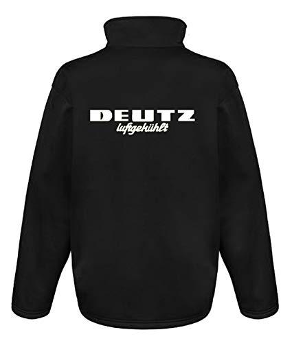 Bimaxx® Softshell-Jacke Deutz Luftgekühlt   Schwarz, Druck Weiss   Größe S