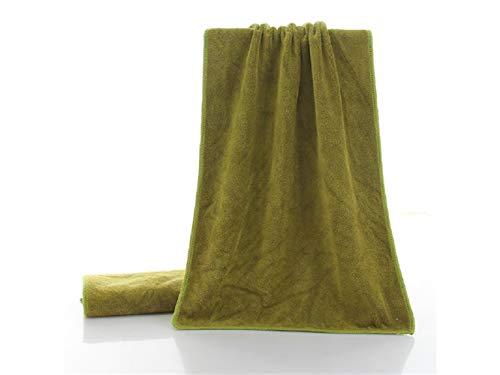 Comfortabele Wasdoek Effen Kleur Volwassen Superfine Fiber Kappers Handdoek Absorbens Huishoudelijke Afvegen Handdoek(Olijfgroen) Slaapkamer Handdoek