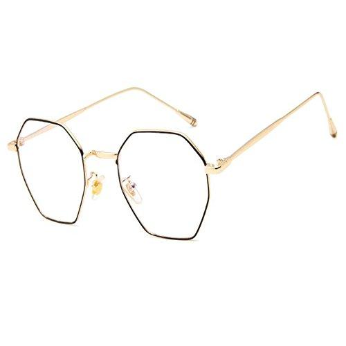 Meijunter Mode Metall Irregulär Brille Rahmen Vintage Optische Gläser für Damen Herren Klare Linse Brillen