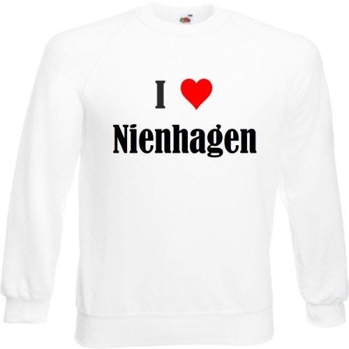 """Sweatshirt""""I Love Nienhagen""""Größe""""2XL""""Farbe""""Weiss""""Druck""""Schwarz"""