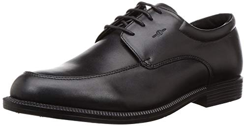 BATA Men's Venture II Black Leather Formal Shoes- 7 (8246237)