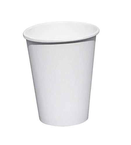 Gastro-Bedarf-Gutheil 50 x Pappbecher Weiss Coffee to go 0,2 L (8 oz) Becher ideal für Coffee Latte Machiato Cappuccino Chocolate Tea Cream EINWEG