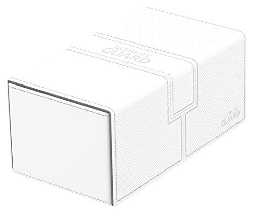 Ultimate Guard Twin Flip'N'Tray Deck Case 200+ Standard Taglia Xenoskin Bianco Ultimate Guard