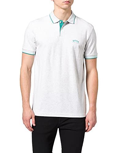 BOSS Paul Curved Camisa de Polo, Light/Pastel Grey50, S para Hombre