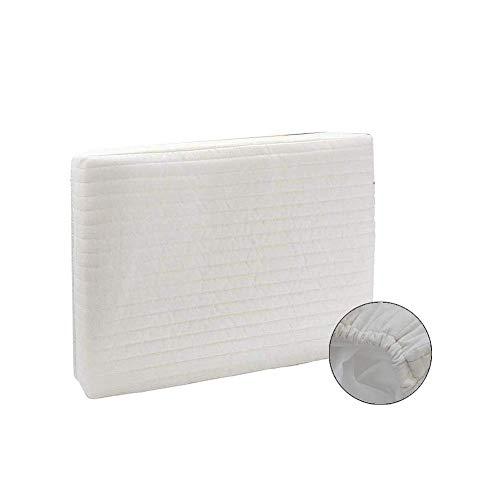 Yuany Cubierta de aire acondicionado interior a prueba de polvo blanco rectángulo acolchado de poliéster para invierno de varios tamaños, 43x33x9cm