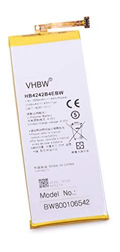 vhbw Akku 3000mAh (3.8V) für Handy Telefon Smartphone Huawei Honor 6, Mulan, H60-L02, H60-L04, H60-L12, H60-L11, H60-L01 wie HB4242B4EBW.