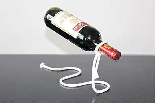 Fantes - Soporte para botellas de vino con cuerda mágica suspendida, acero inoxidable, flotante, ideal como regalo para la cocina o el hogar Magic Rope