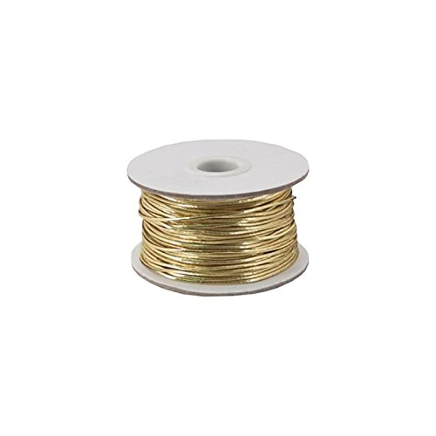 Berwick Offray Metallic Stretch/Plain 50 Yards-Gold Cord