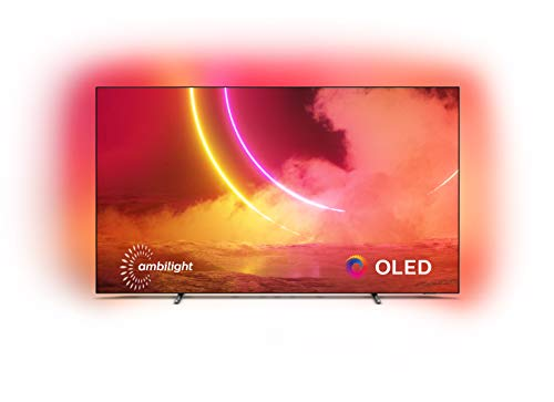 Philips Ambilight 55OLED805/12 55-Inch OLED TV (4K UHD, P5 AI Perfect Picture Engine, Dolby Vision, Dolby Atmos, HDR 10+, Freeview Play, Works with Alexa, Android TV) Gun Metal Grey (2020/2021 Model)