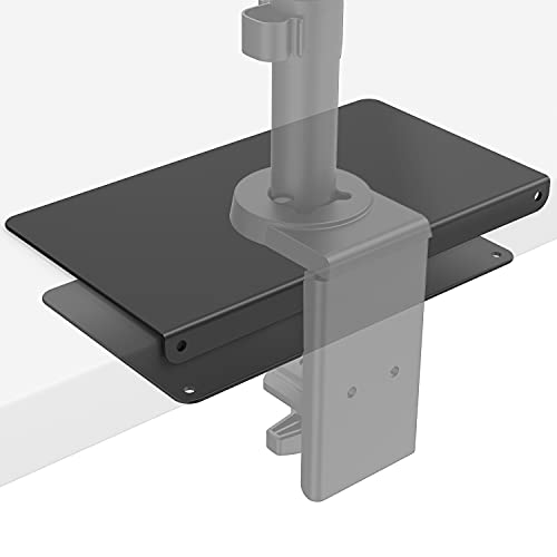 WALI Steel Reinforcement Bracket for Thin, Glass, and Other Fragile Table Tops, Compatible with Most Monitor Mount Stand Grommet C Clamp Installation (CGRP-B), Black