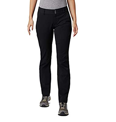 Columbia Women's Saturday Trail Pant, Water and Stain Resistant, Black, 10 Long