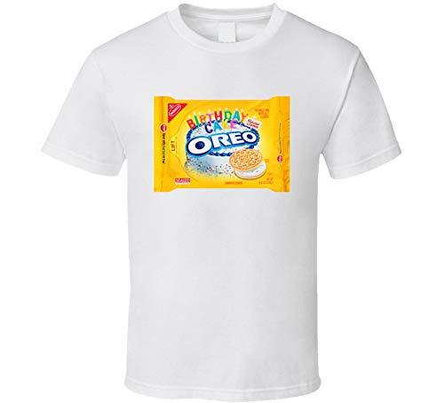 ABADI Oreo Geburtstagstorte Kekse Essen Snack Geschenk T-Shirt weiß Gr. M, Schwarz