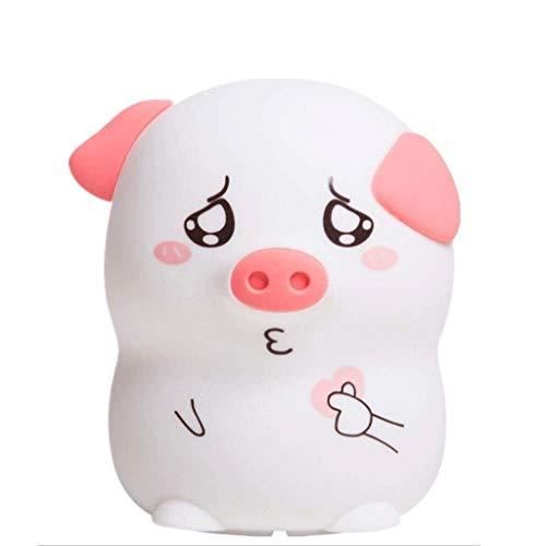 MLZWS Pet Piggy capteur tactile de commutation LED lampe de nuit, for les enfants Chambre et Nursery (Angel Piggy Light) (Color : A)