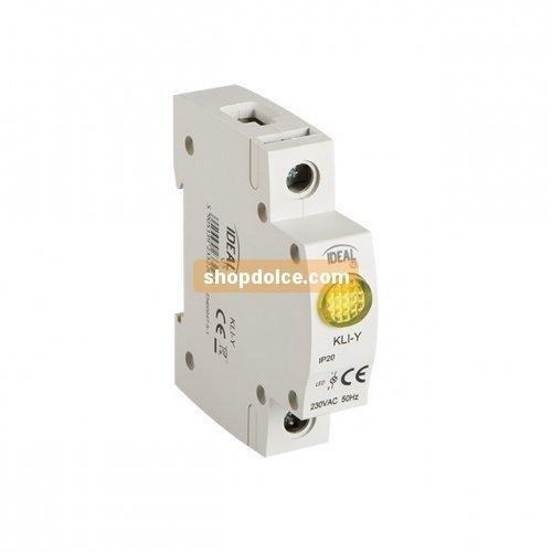 Preisvergleich Produktbild Kanlux Kontrollleuchte LED Präsenz Netz-Rahmen gelb Hutschiene LED kli-r