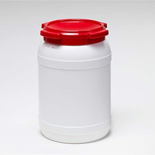 Certeo Weithalsfass 20l - Inhalt 20 Liter - Fass Kunststofffass Rundfass Standfass Weithalstonne Tonne